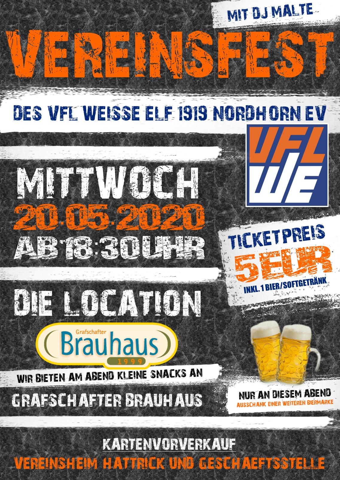 Vereinsfest am 20.05.2020